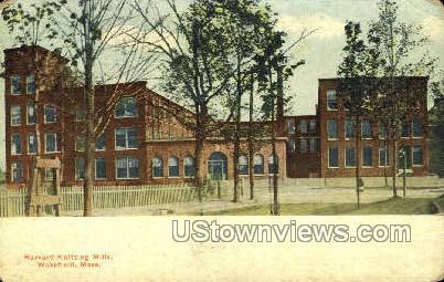 Harvard Knitting Mills - Wakefield, Massachusetts MA Postcard