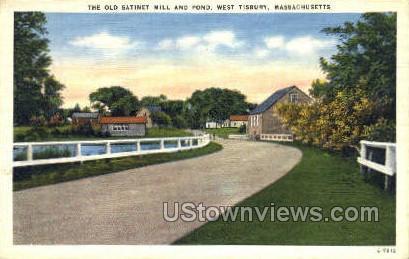The Old Satinet Mill & Pond - West Tisbury, Massachusetts MA Postcard