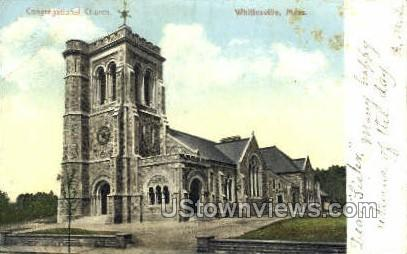 Congregational Church - Whitinsville, Massachusetts MA Postcard
