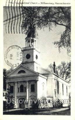 Congregational Church - Williamsburg, Massachusetts MA Postcard