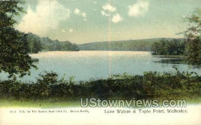 Lake Waban & Tuplo Point - Wellesley, Massachusetts MA Postcard