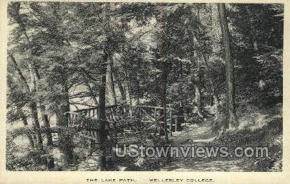 Lake Path - Wellesley, Massachusetts MA Postcard