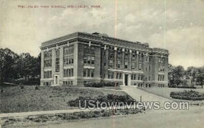 Wellesley High School - Massachusetts MA Postcard