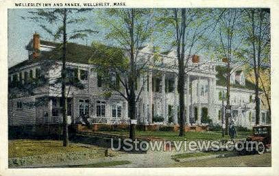 Wellesley Inn & Annex - Massachusetts MA Postcard