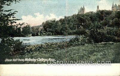 Stone Hall Cove, Wellesley College - Massachusetts MA Postcard