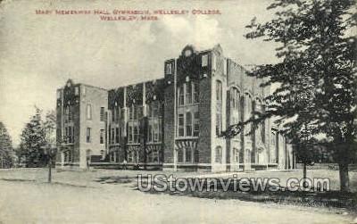 Mary Hemenway Hall Gym, Wellesley College - Massachusetts MA Postcard