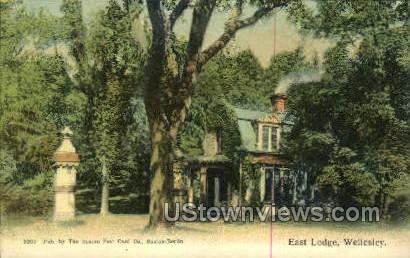 East Lodge - Wellesley, Massachusetts MA Postcard