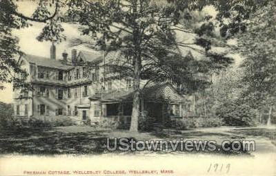 Freeman Cottage, Wellesley College - Massachusetts MA Postcard
