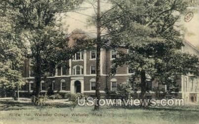 Wilder Hall, Wellesley College - Massachusetts MA Postcard
