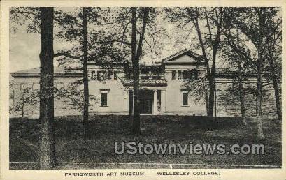 Farnsworth Art Museum, Wellesley College - Massachusetts MA Postcard