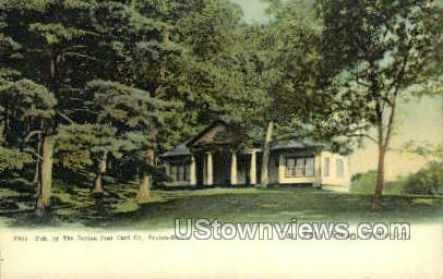 Tau Zeta House - Wellesley, Massachusetts MA Postcard