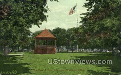 Bandstand, The Common - Waltham, Massachusetts MA Postcard