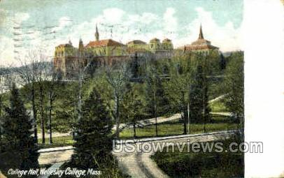 Wellesley College - Massachusetts MA Postcard