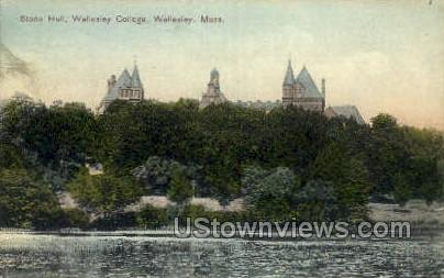 Stone Hall, Wellesley College - Massachusetts MA Postcard