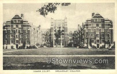 Tower Court, Wellesley College - Massachusetts MA Postcard