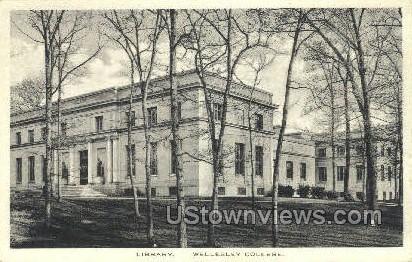 Library, Wellesley College - Massachusetts MA Postcard