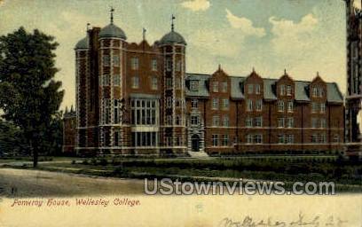 Pomeroy House - Wellesley, Massachusetts MA Postcard