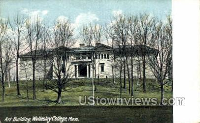 Art Building, Wellesley College - Massachusetts MA Postcard
