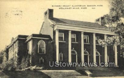 Babson Park - Wellesley Hills, Massachusetts MA Postcard