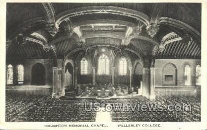 Houghton Memorial Chapel - Wellesley, Massachusetts MA Postcard