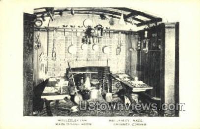 Main Dining Room, Wellesley Inn - Massachusetts MA Postcard