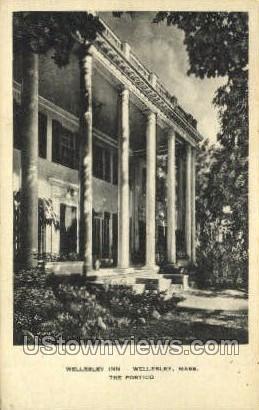 Portico, Wellesley Inn - Massachusetts MA Postcard