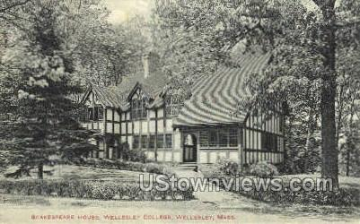 Shakespeare House - Wellesley, Massachusetts MA Postcard