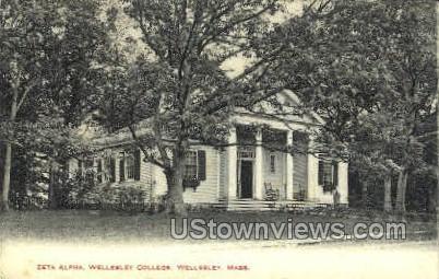 Zeta Alpha, Wellesley College - Massachusetts MA Postcard