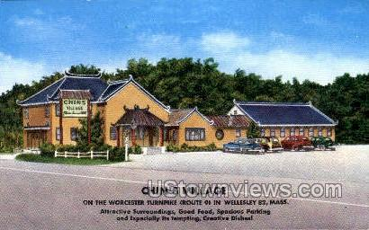 Chin's Village - Wellesley, Massachusetts MA Postcard