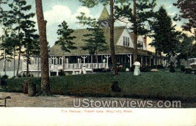 The Pavilion, Pequot Lake - Westfield, Massachusetts MA Postcard