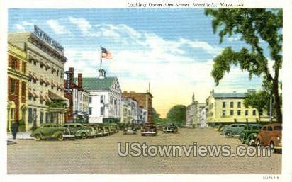 Elm St. - Westfield, Massachusetts MA Postcard
