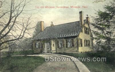 The Old Whitman Homestead - Massachusetts MA Postcard