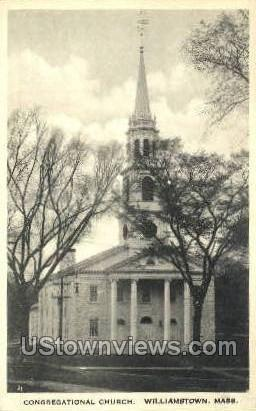 Congregational Church - Williamstown, Massachusetts MA Postcard