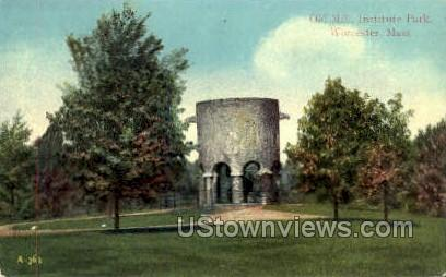 Old Mill, Institute Park - Worcester, Massachusetts MA Postcard