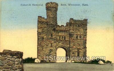Bancroft Memorial - Worcester, Massachusetts MA Postcard