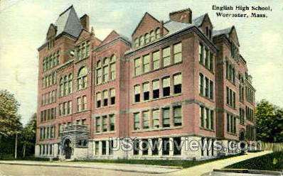 English High School - Worcester, Massachusetts MA Postcard