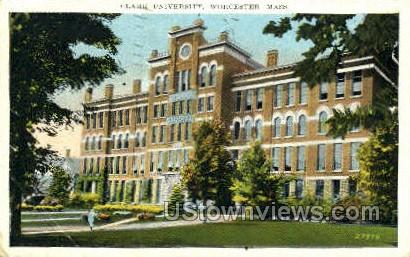 Clark University - Worcester, Massachusetts MA Postcard