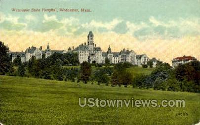 Worcester State Hopsital - Massachusetts MA Postcard