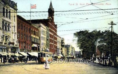 Front St. - Worcester, Massachusetts MA Postcard