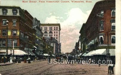 Main St. - Worcester, Massachusetts MA Postcard