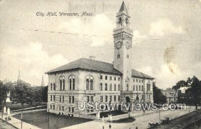 City Hall - Worcester, Massachusetts MA Postcard