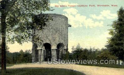 Old Stone Tower - Worcester, Massachusetts MA Postcard