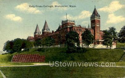 Holy Cross College - Worcester, Massachusetts MA Postcard