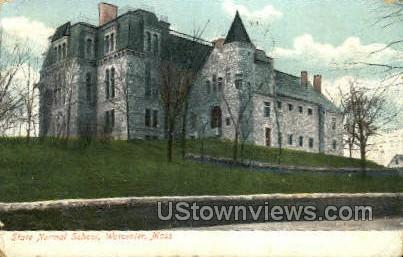 State Normal School - Worcester, Massachusetts MA Postcard