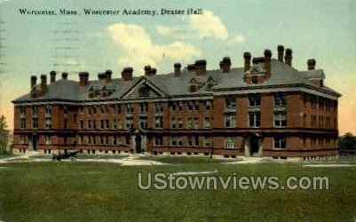 Dexter Hall - Worcester, Massachusetts MA Postcard