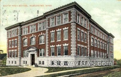 South High School - Worcester, Massachusetts MA Postcard