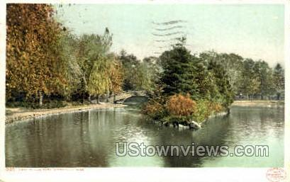 Lake, Elm Park - Worcester, Massachusetts MA Postcard