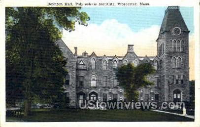 Boynton Hall - Worcester, Massachusetts MA Postcard