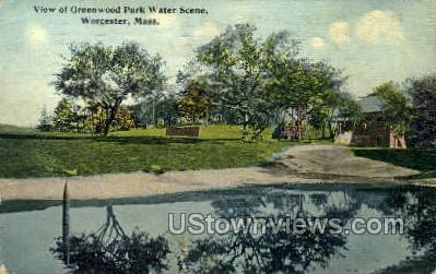 Greenwood Park - Worcester, Massachusetts MA Postcard