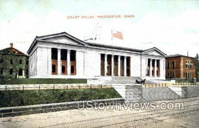 Court House - Worcester, Massachusetts MA Postcard